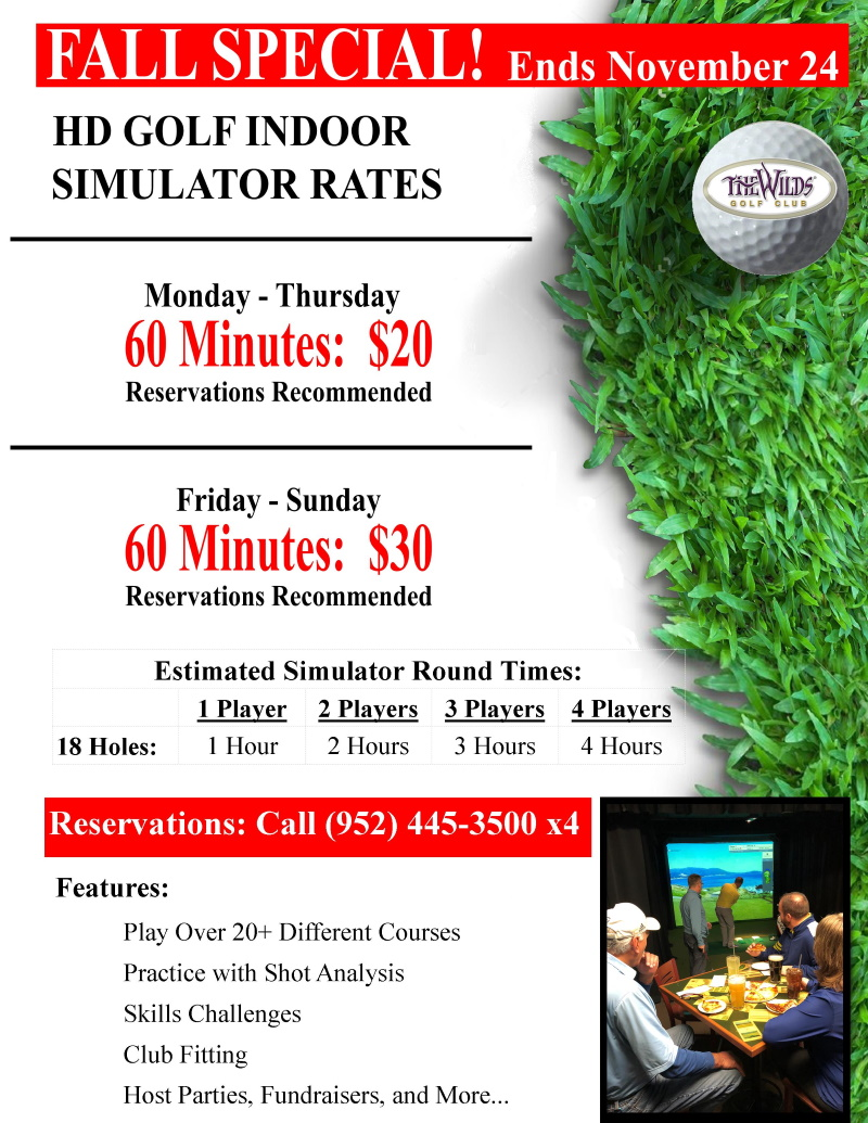 Simulator Flyer Fall Special